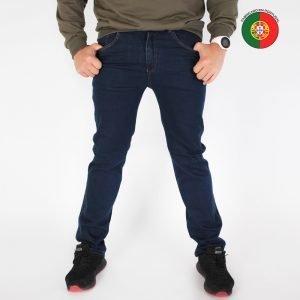 calças de ganga elástica