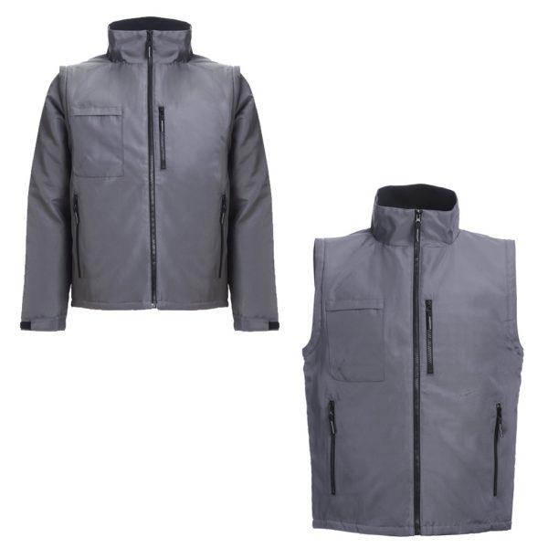casaco com mangas removíveis
